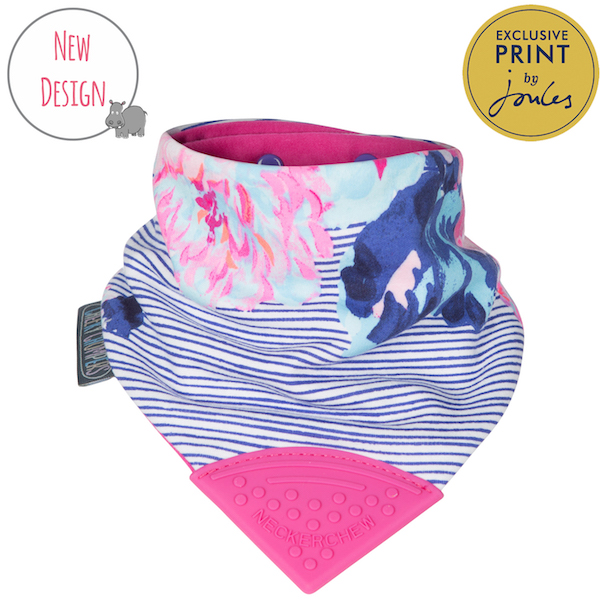 Cheeky Chompers- Joules floral stripe Neckerchew