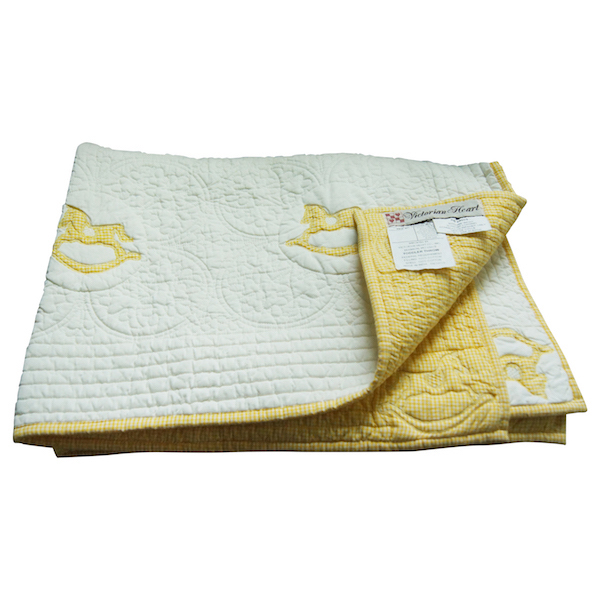 Vintage Quilted Toddler Throw