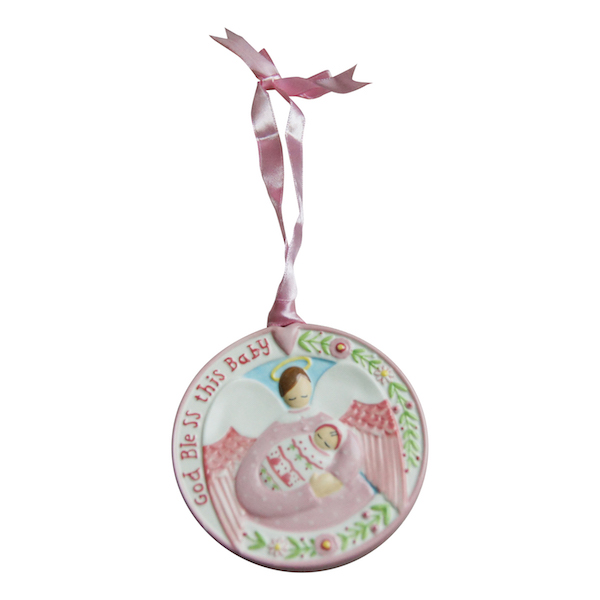 Guardian Angel Plaque- Pink