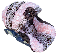 Infant car seat cover Baby Helena Rose