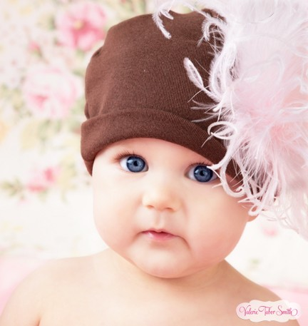 Brown Pink Curly Marabou Hat