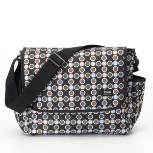OiOi Caviar Bionic Dot Messenger Diaper Bag