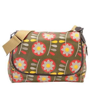 OiOi Olive Retro Messenger Diaper Bag