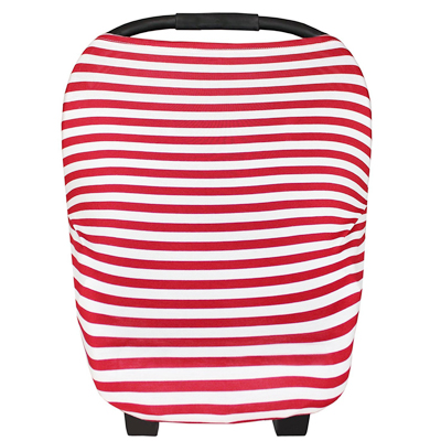 Multi Use Baby Car Seat Cover- red stripes