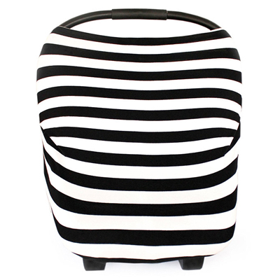 Multi Use Baby Car Seat Cover Black Stripes