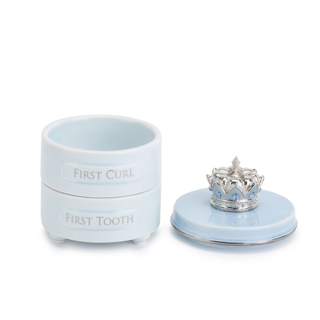 First tooth and curl keepsake box- blue