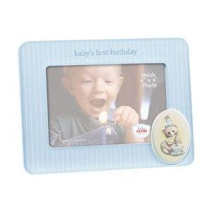 Gund Baby's First Birthday frame-Boy