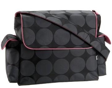 Oi Oi Grey Dot Pink Messenger Bag