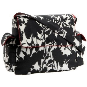 Oioi Floral Messenger Diaper Bag