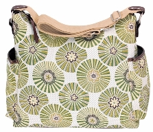 Oioi Green Floral Disc Hobo