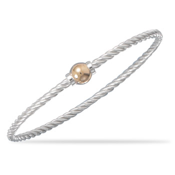 7.5 Sterling Silver Twisted Cable Bangle
