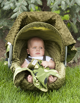 Car seat canopy - Hunter whole caboodle