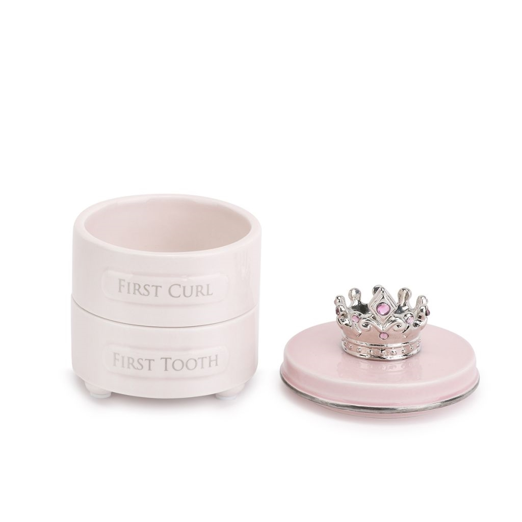 First tooth and curl keepsake box-pink
